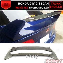 06-11 Honda Civic 4 Door Mug Style Rear Trunk Wing Spoiler Carbon Fiber Top