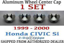 1 SET Genuine OEM Honda Civic 2Dr Si Aluminum Wheel H Center Cap 1999-2000