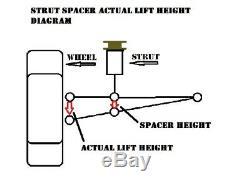 2 inch (51mm) Lift Kit for 1988-2000 Honda Civic & 1990-2001 Acura Integra