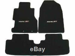 2002-2005 Genuine Honda Civic Si Black Carpet Floor Mats 08P15-S5T-111