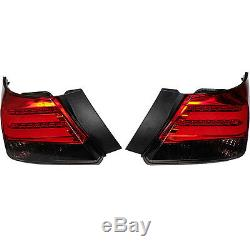 2008-2012 Year For HONDA Accord Sedan 4-Door LED Tail Lights BMW Style Red Black