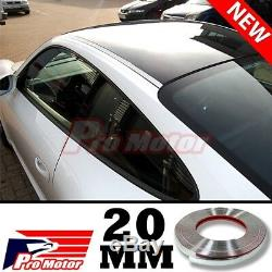 3M 20MM Chrome Molding Trim Exterior Guard Lower Window Side Door Strip Roof SUV
