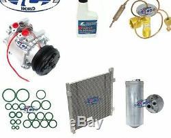 A/C Compressor & Condenser Kit Fits Honda Civic 1996-2000 1.6L OEM TRS090 77560