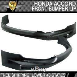 Actual Install Image! Fits Accord Front + Rear Bumper Lip + Side Skirts Bodykit
