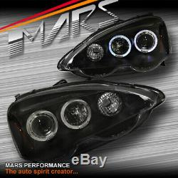 Black LED HALO Projector Head Lights for Honda Integra DC5 2001-2004 & Type R