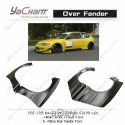 FRP Over Fender Flare Fit For 92-95 Honda Civic EG PD RB Front & Rear Fender