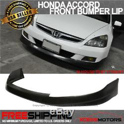 Fits 06-07 Honda Accord 2Dr Front Bumper Lip Spoiler HFP-Style Urethane