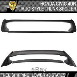 Fits 06-11 Honda Civic 4Dr FD2 Rear ABS Trunk Spoiler Wing JDM Mug MU RR Style