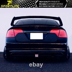 Fits 06-11 Honda Civic Sedan Mug Style Rear Trunk Spoiler Wing Matte Black