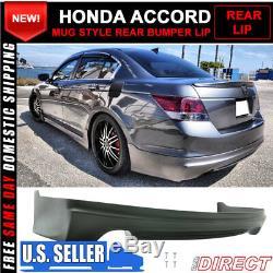 Fits 08-10 Honda Accord Mugen Style Rear Bumper Lip Unpainted PU Polyurethane