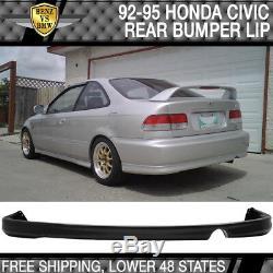 Fits 92-95 Honda Civic Mugen Style Front + Rear Bumper Lip + Window Visor