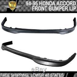 Fits 94-95 Honda Accord T-R PP Front Bumper Lip + Sun Window Visor