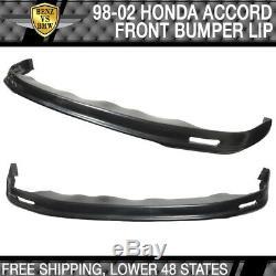Fits 98-02 Honda Accord PP Mugen Front Bumper Lip Spoiler + Sun Window Visor