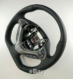 Flat Bottom Steering Acura Tsx Honda Accord Viii! D Shape! New Leather