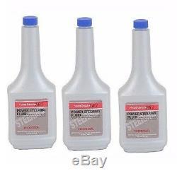 For Honda Genuine Power Steering Fluid 08206 9002 12 OZ sold as 3 bottle's