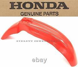 Front Fender 00-07 XR650 R OEM Fighting Red Plastic Genuine Honda Mud Guard #F45