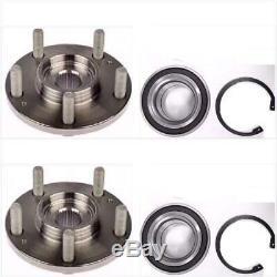 Front Wheel Hub & Bearing Kits For 2008-2012 Honda Accord AcuraTSX 09-14 PAIR