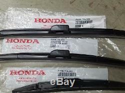 Genuine Honda Cr-v Crv Wiper Blade Set (all 3) 2012-2016 Crv