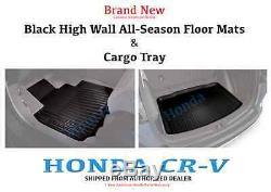 Genuine OEM Honda 2017- 2020 CR-V High Wall All Season Floor Mats & Cargo Tray