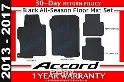 Genuine OEM Honda Accord 4-DR Black All Season Floor Mat Set 13-17 08P13-T2A-110