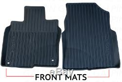 Genuine OEM Honda Civic All Season Floor Mat Set Mats 2016 2020 (High Wall)