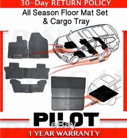 Genuine OEM Honda Pilot All Season Floor Mat Set + Folding Cargo Mat 2016-2020