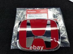 Genuine Oem Red Front Rear Emblem Badge For Honda 10th CIVIC Sedan Fc 2016-2020