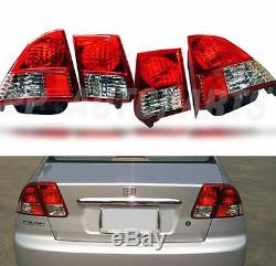 Genuine Part Rear Red Tail Light Lamp For Honda CIVIC Dimension Sedan 1995-2003