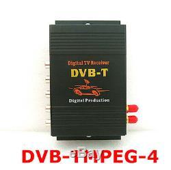 HD DVB-T MPEG4 Dual Antenna 4 Way Video Car Mobile Digital TV Receiver Box Tuner