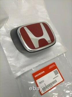 HONDA INTEGRA DC5 TYPE-R ACURA RSX Genuine Front Red H Emblem Badge OEM Parts