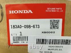 Honda CT70 MUFFLER, EXHAUST Chrome 183A0-098-673 OEM Genuine Honda