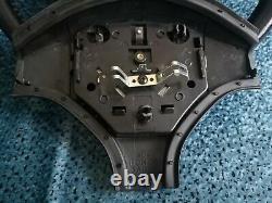 Honda Civic 96-00 Genuine BLACK Steering Wheel LEATHER 3 Spoke OEM JDM EDM