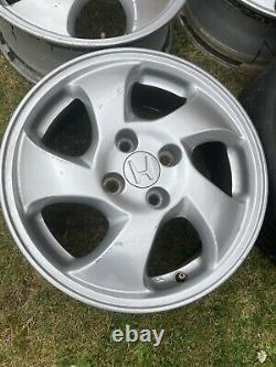 Honda Civic VTI EK4 Alloy Wheels Genuine OEM 15 6J Et45 Vtec EK, EG, EF 4x100