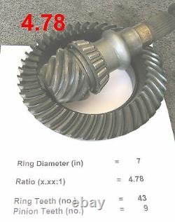 Honda S2000 Mazda RX-7 LSD 4.78 Differential Racing 7 Ring and Pinion Gear