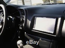Honda S2000 S2K OEM JDM Navigation Bezel Double Din Dash Genuine Black 7 LCD