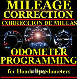 Honda Speedometer Instrument Gauge Cluster Mileage Odometer PROGRAMMING