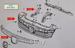 JDM 2014 Honda Civic FB EX SI Sedan Front Bumper Hood Radiator Grille Fits 11-15