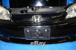 JDM Honda Civic Bumper Headlights Fog Lights Fenders Hood Rebar Emblem 2001-2003