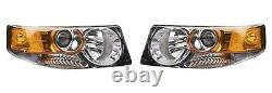 Left & Right Genuine Headlights Headlamps Pair Set For Honda Element SC 07-08