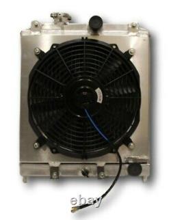 NEW Aluminum Radiator +Shroud+Fan for 1992-2000 Honda Civic EK EG B16 B18