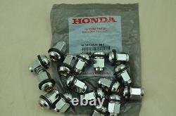 NEW Genuine Honda OEM Set of 16 Wheel Lug Nuts with Retainer 90381-SV1-981