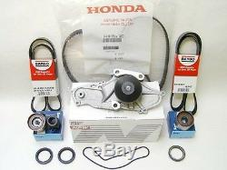 OEM Honda Acura V6 Timing Belt Water Pump Kit With Genuine Hydraulic Tensioner
