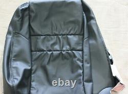 OEM Upper Front Left Driver Side Black Leather Seat Cover Honda Accord Sedan