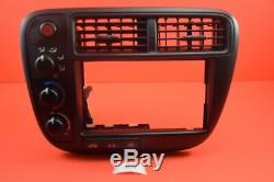 T1 99-00 Honda Civic Double Din Climate Control Ek Radio Bezel Oem