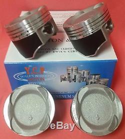 YCP 75mm Vitara Teflon Coated Pistons LowComp Turbo Engine Kit Civic D16Y7 96-00